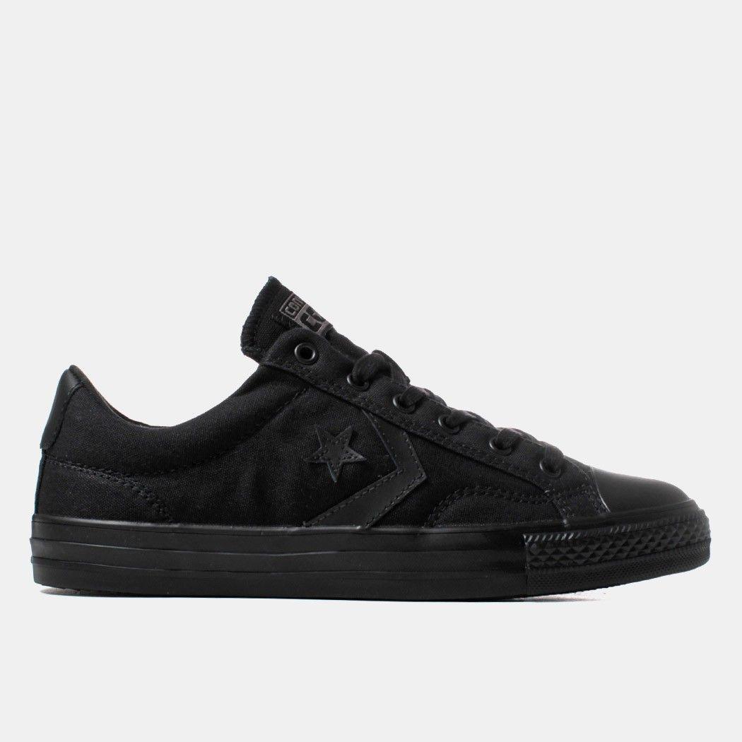 Converse Star Player OX Mono Shoes - Black Mono
