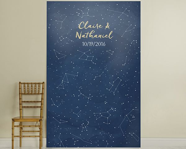 Personalized Quot Under The Stars Quot Photo Backdrop