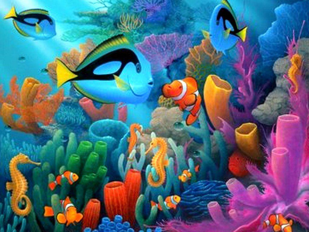 Under The Sea Under The Deep Blue Sea Wallpaper I8s6y Hd Wallpapers Fan Full Hd Sea Murals Ocean Mural Sea Painting