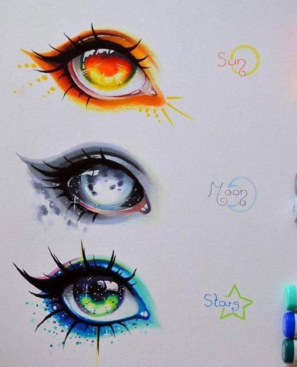 Top Paintings Of The Week 16 Paint Inspirations Graphicroozane In 2020 Anime Eye Drawing Eye Art Cool Art Drawings