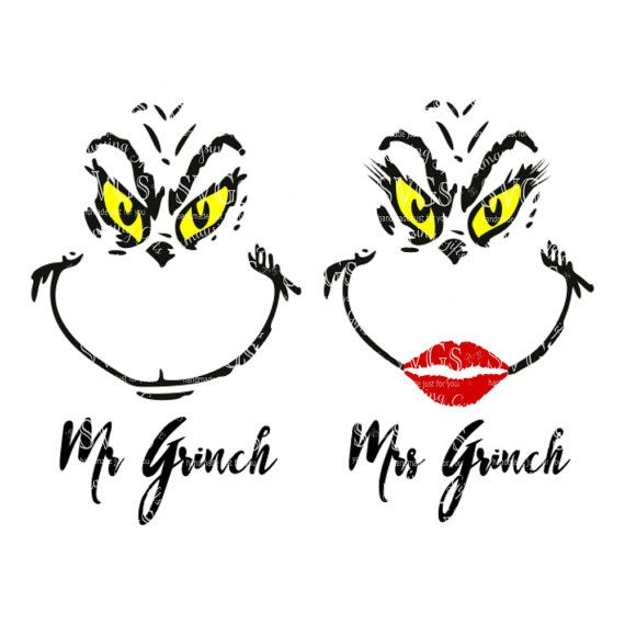 Svg Mr And Mrs Grinch Ornament Design Tshirt Design