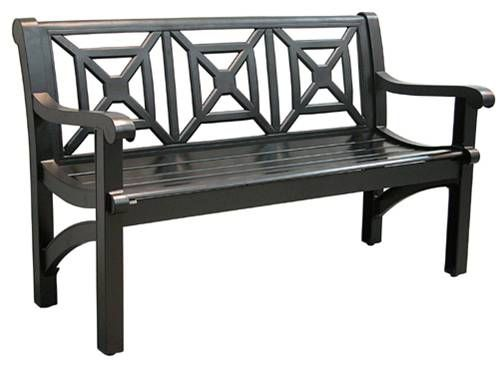 Check Out The Wrought Iron On The Website Black Metal Park Bench