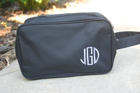 Monogrammed Black Toiletry Bag Personalized Dopp Bag Mens Gift ... 11551f225c