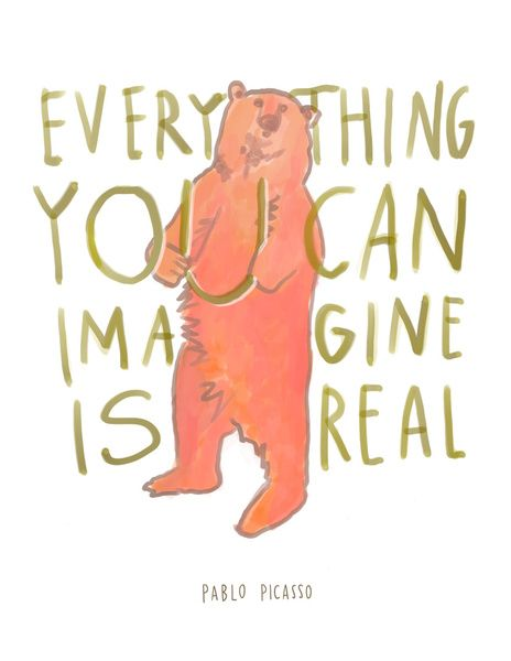 """""""Everything You Can Imagine Is Real"""" Art Print by Emilymcdowelldraws on Society6."""