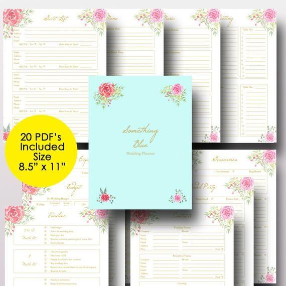 Wedding Planner Printable, Wedding Planner Book, Binder Printables, Planning Book, Checklist ...