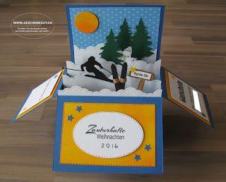 klappkarte klappbox gutschein skiwochenende skiurlaub. Black Bedroom Furniture Sets. Home Design Ideas