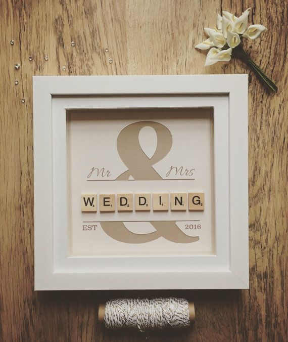 Wedding Scrabble Frame, Scrabble Wall Art, Personalised, Wedding ...