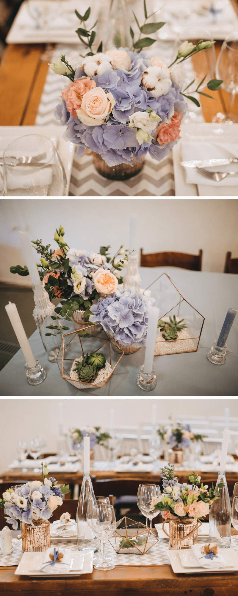 Boda con hortensias: ideas para decoraciones de mesa, ramo de novia y más