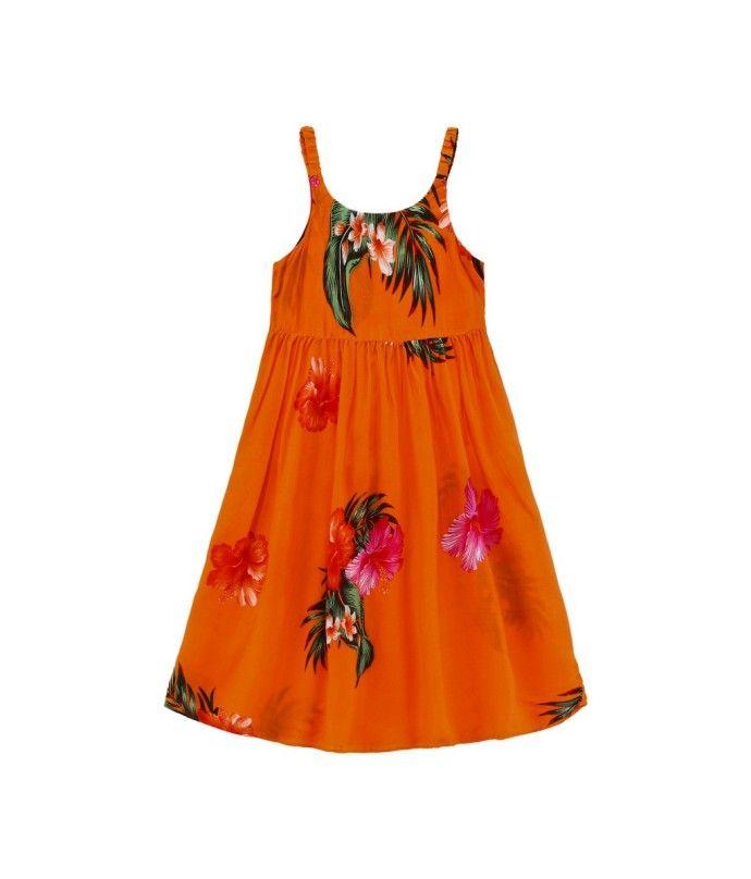 Aloha Summer Beach Hawaiian Cruise Luau Elastic Strap Girl Dress Turquoise