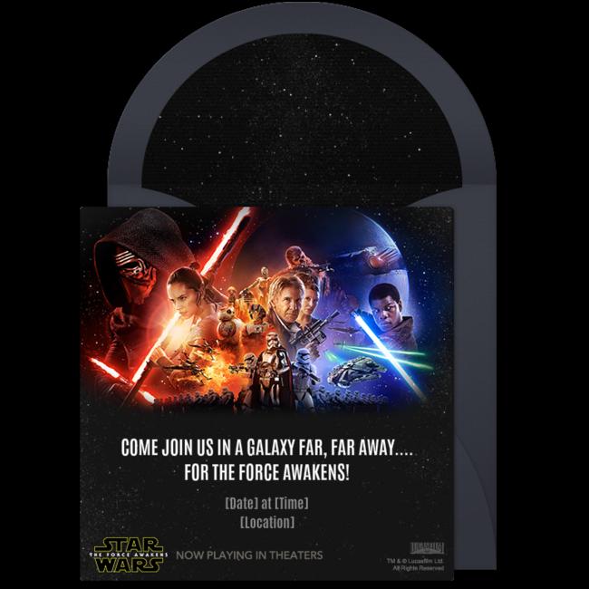 Free Star Wars The Force Awakens Invitations Star Wars