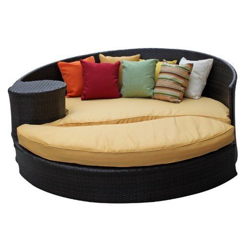 ying yang outdoor daybed set brown