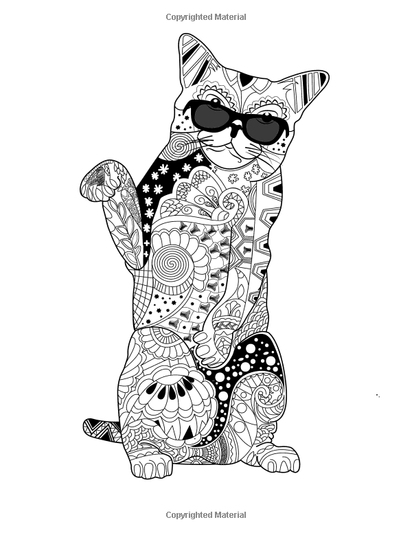 Creative Fancy Cats Coloring Book Adult For Mindfulness And Relaxation