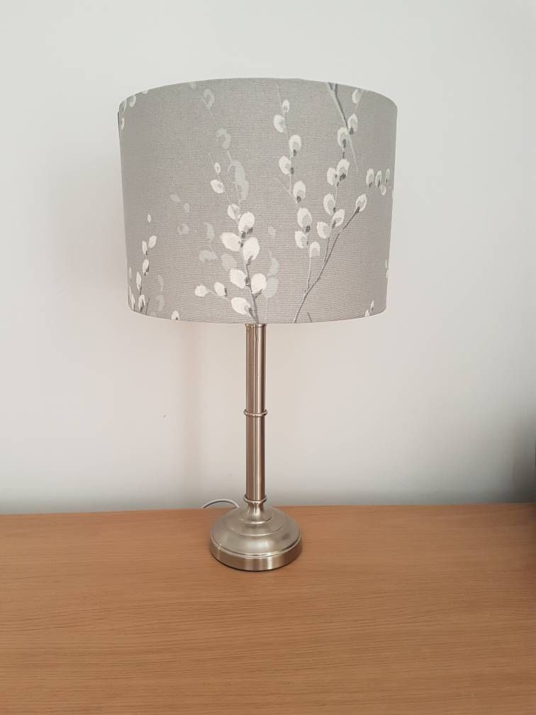 Pussy willow lamp shade lampshade in steel grey laura ashley excited to share the latest addition to my etsy shop pussy willow lamp shade aloadofball Choice Image