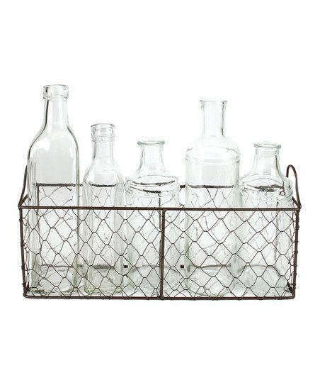 Blossom Bucket Assorted Glass Bottle & Wire Basket Set | zulily