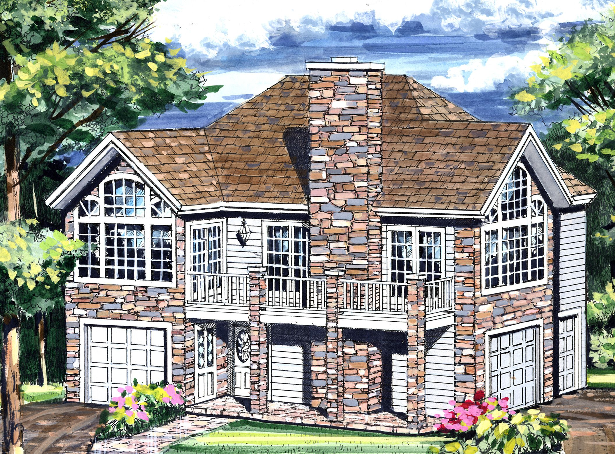 plan 3849ja garage with a fabulous guest apartment above bedroom