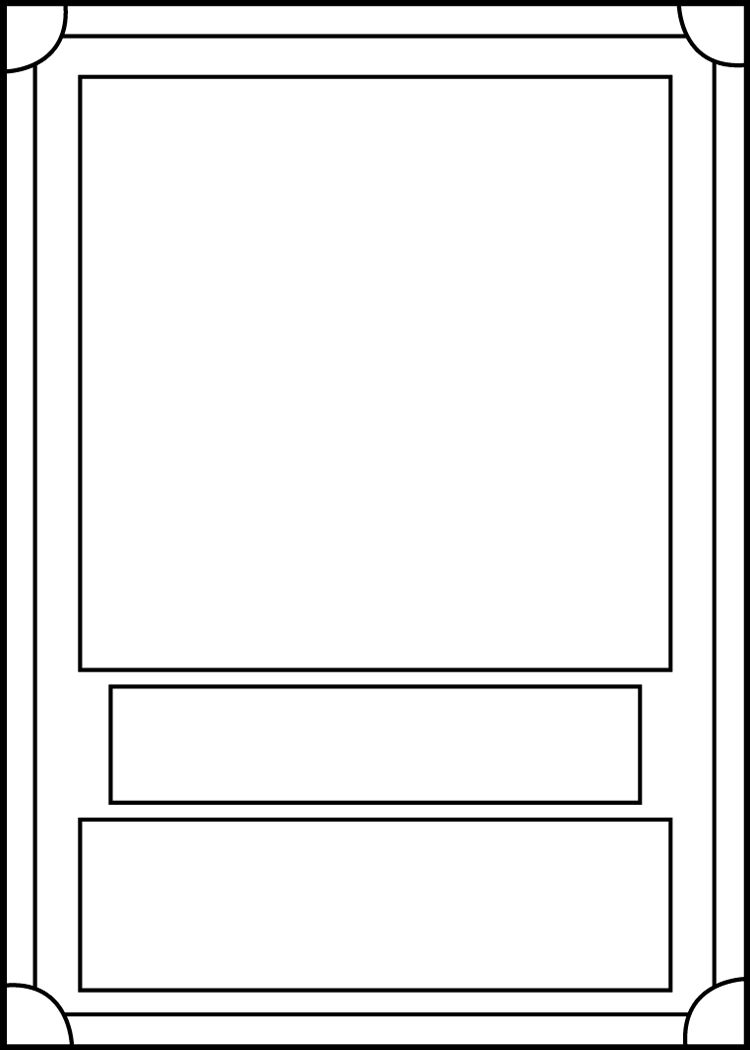 Trading Card Template Frontblackcarrot1129 On Deviantart With