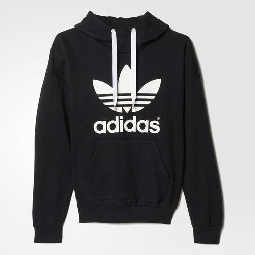 finest selection b310b aa48d Adidas Women s Trefoil Hoodie S   L Black AJ8409