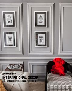 Decorative wall molding or wall moulding designs ideas and panels, frame  moldings
