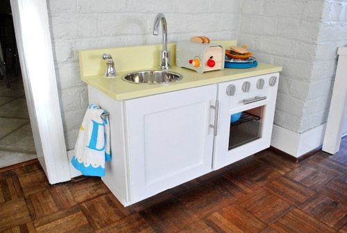Diy Play Kitchen Set how to make a homemade play kitchen (from a cabinet | diy play