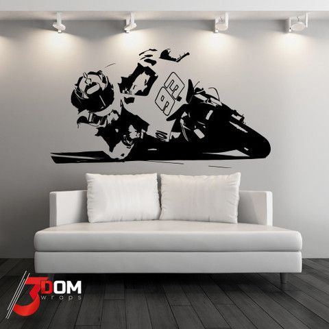 MotoGP Vinyl Wall Art Stickers Motorbike Wall Murals Decals - Custom vinyl wall decals for garage