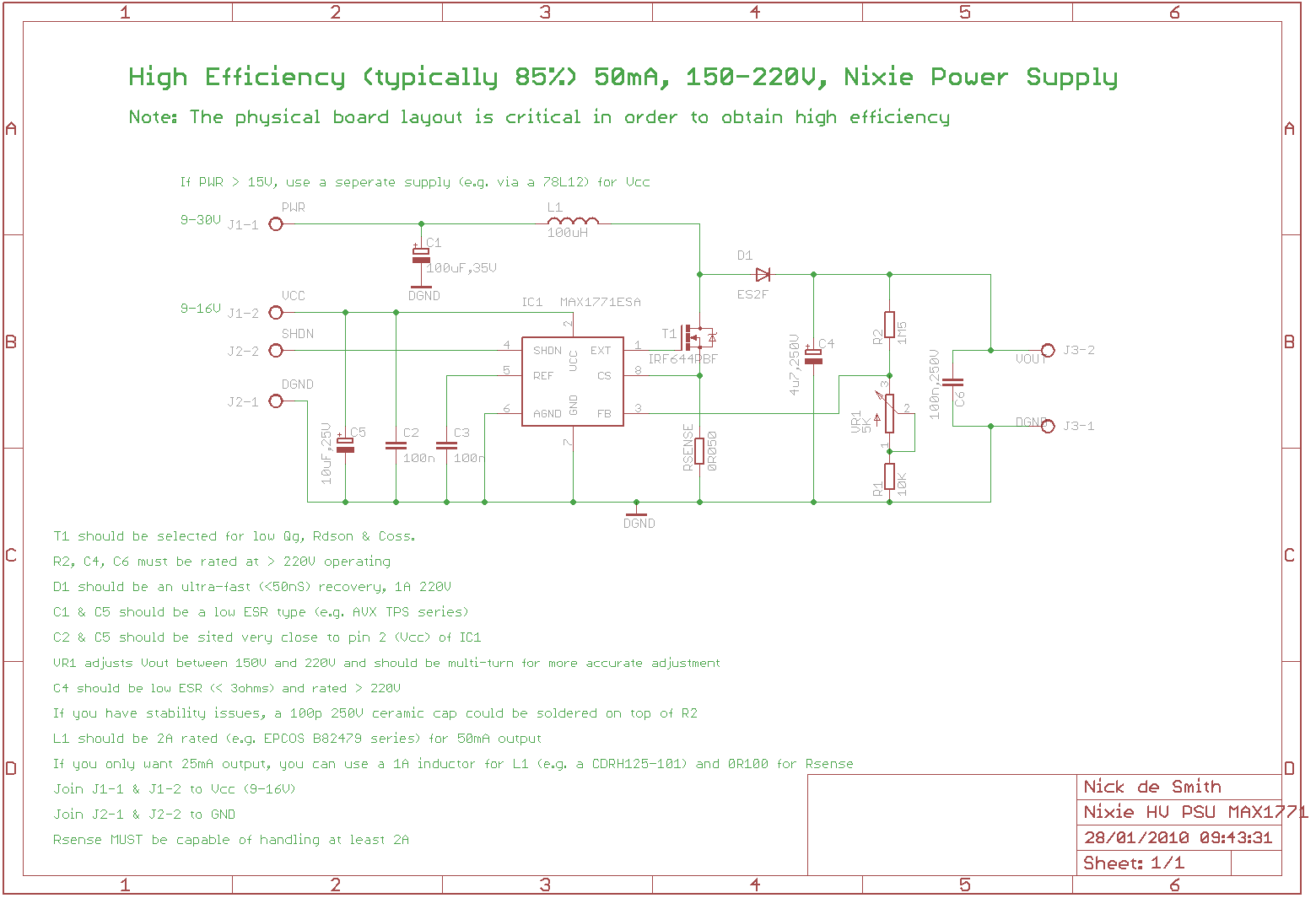 Schematic Of Nixie Hv Psu Tube Projects Pinterest 120 Kv Fullwave Multiplier Circuit