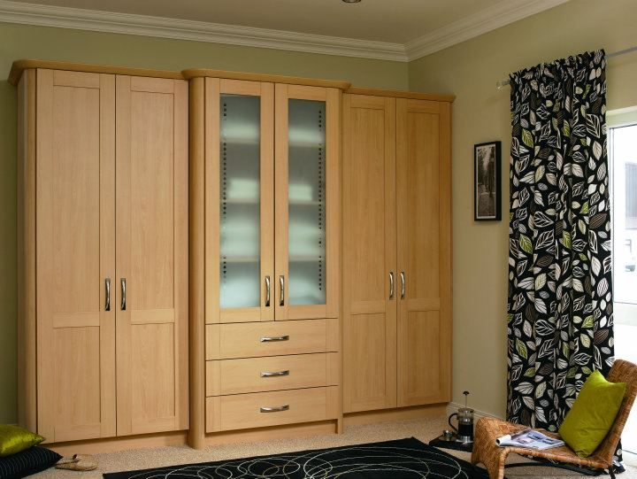 Beech Pvc Wardrobes Design Living Bedroom Colours Painted Wood Style Stylish Li Traditional Bedroom Wardrobe Door Designs Fitted Bedroom Furniture