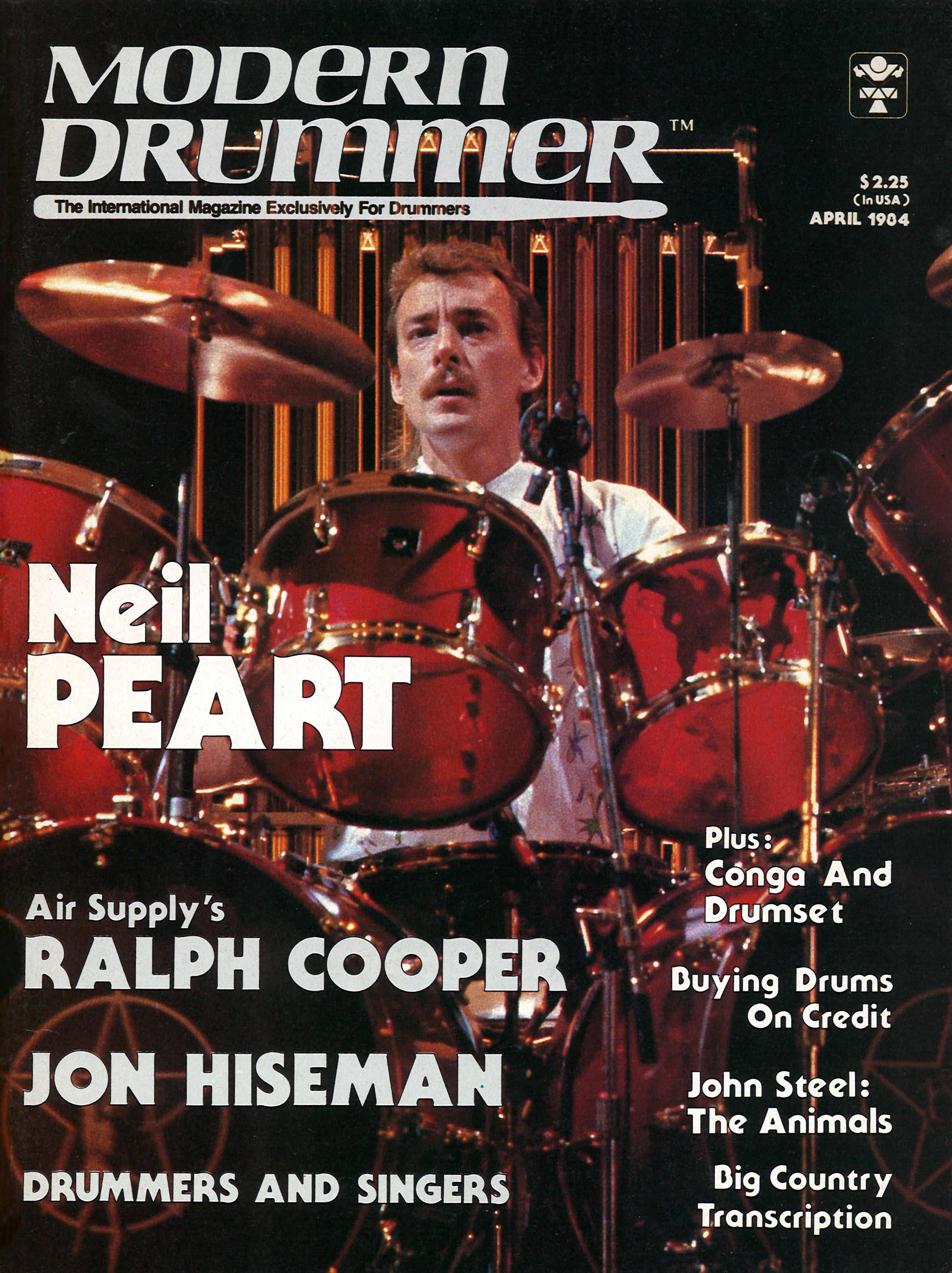 A Tribute To Rush Interview Neil Peart Modern Drummer Magazine April 1984 Modern Drummer Neil Peart Drummer