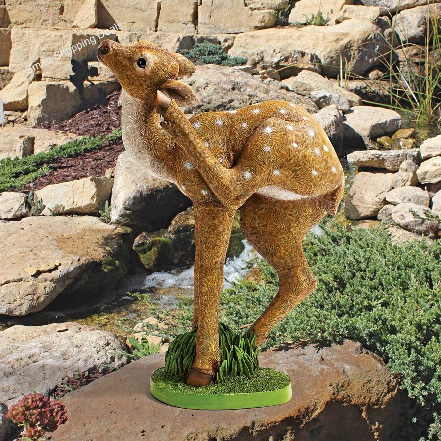Baby Deer Statue Garden Animal Statues Deers Figurines