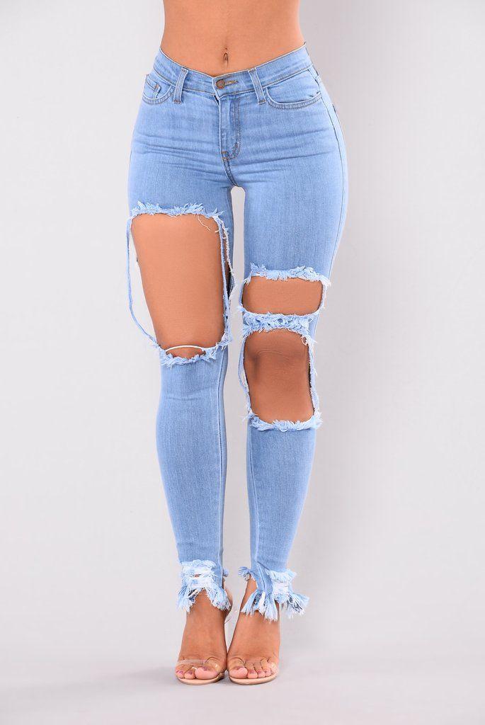 e4de8df7c0d1 Holy Grail Distressed Jeans - Light | Bottoms-Jeans in 2019 ...