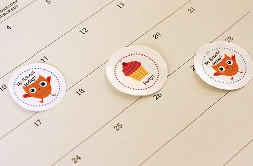 Free Printable School Events Calendarstickers  By AlphamomCom