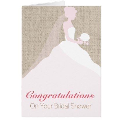 Pink and white bride bridal shower greeting card bridal showers pink and white bride bridal shower greeting card bridal showers bridal showers and weddings m4hsunfo