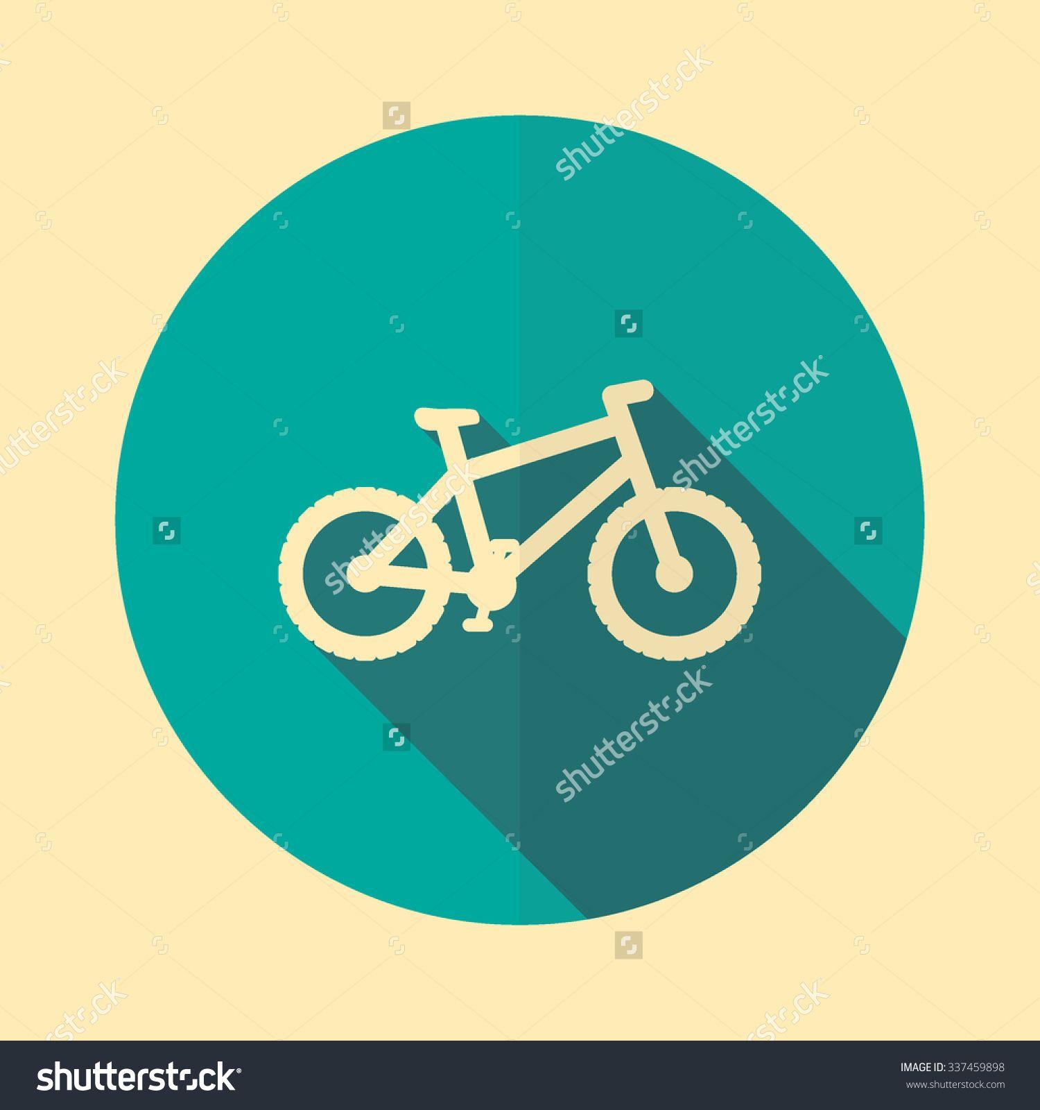 Mountain Bike Icon In Flat Design And Long Shadow Bike Icon Icon Design