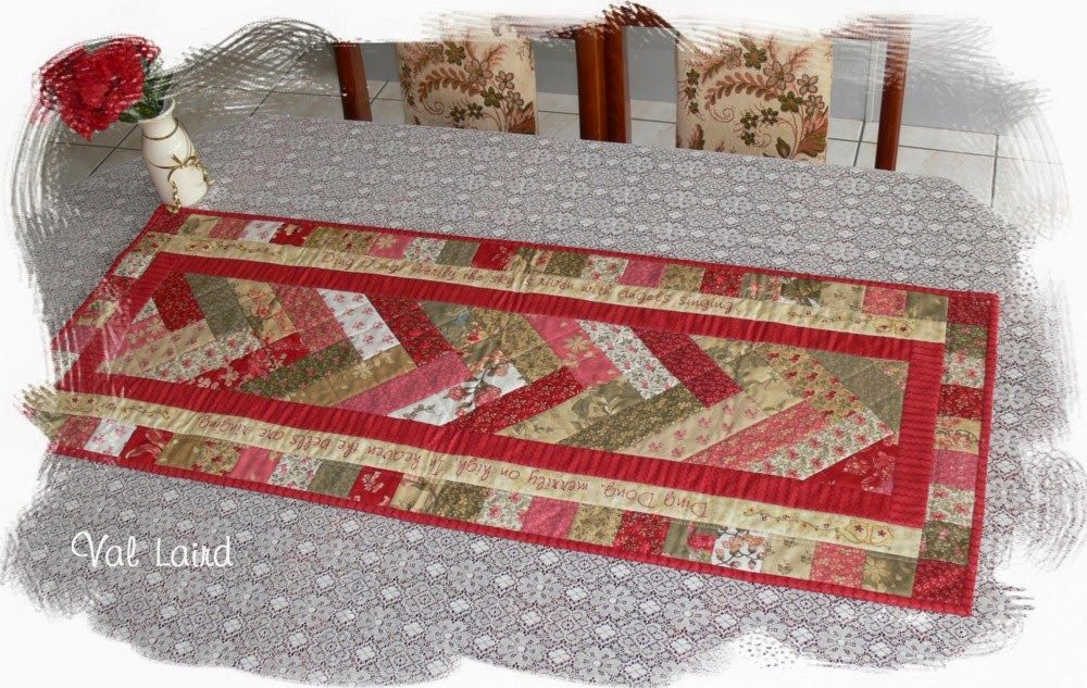 Free Pattern For Christmas Giving Week 1 Quilting Table Runners