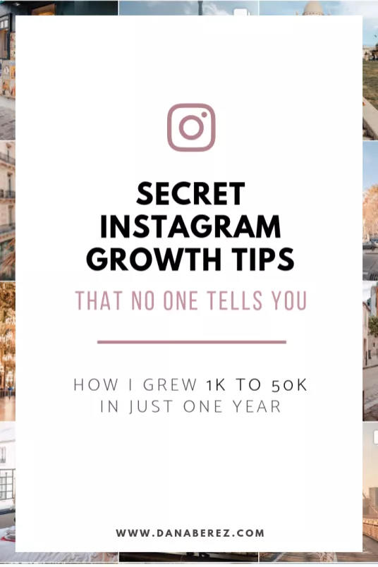 7 Organic Instagram Growth Tips | How I Grew 50K Instagram Followers - Dana Berez