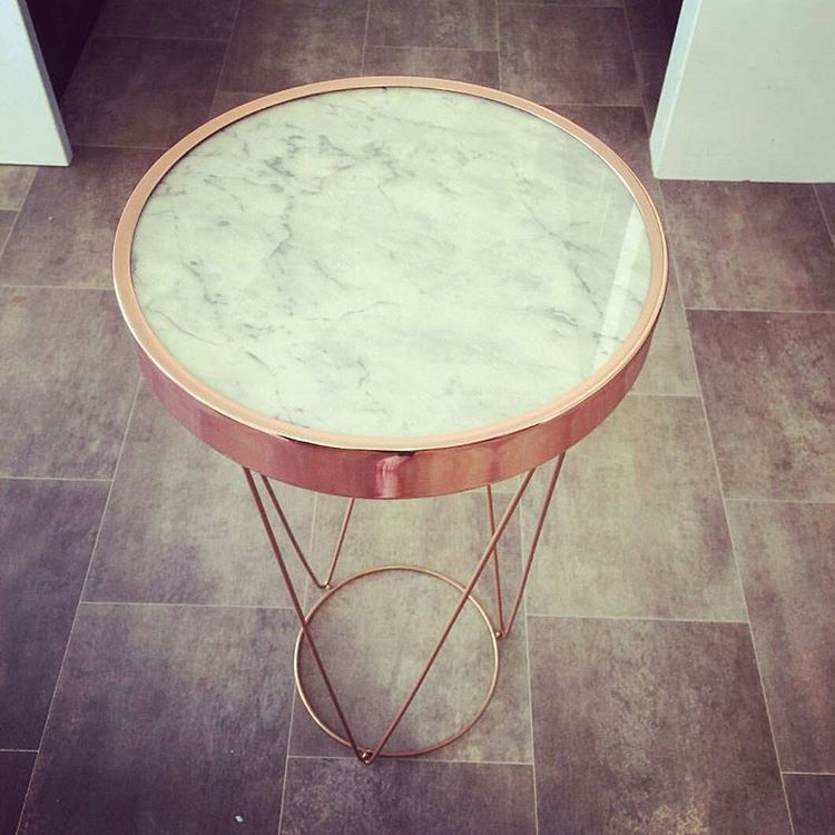 Instagram Copper Decor Rose Gold Rooms Rose Gold Coffee Table