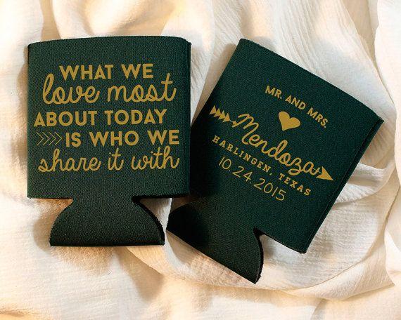 Personalized Koozies Wedding Favor By SipHipHooray