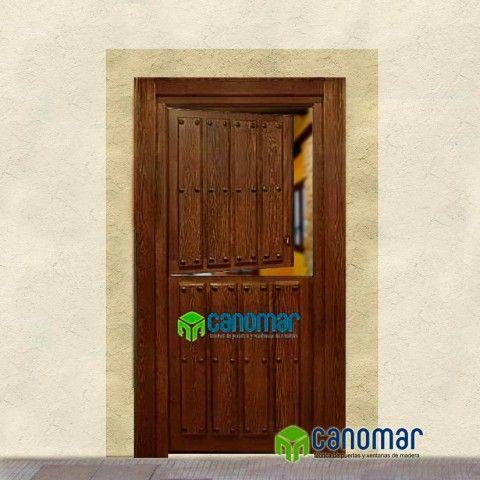 Puerta Exterior Rústica Duelas Partida La Fabrica Canomar Exterior Rústico Puertas Exterior Ventanas De Madera