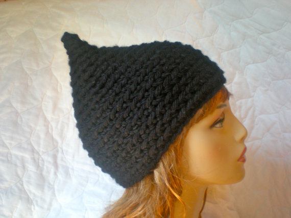 Pattern Pixie Hat Gnome Elf Pointed Hat Easy Crochet Pdf Email