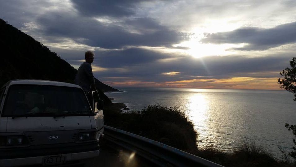 Just taking in the amazing scenery. Such a beautiful part of the world #greatoceanroad #australia #sunset #camperlife by lucasssdixon