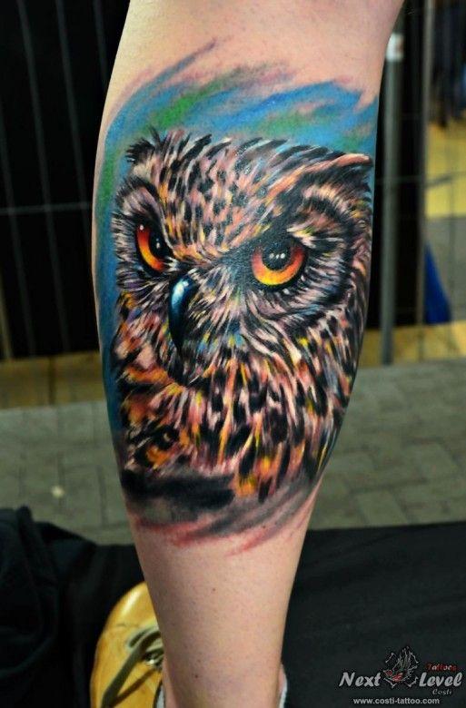d9463c32d313e Realistic owl tattoo by Constantin Azoitei #InkedMagazine #owl #bird #tattoo  #tattoos #inked