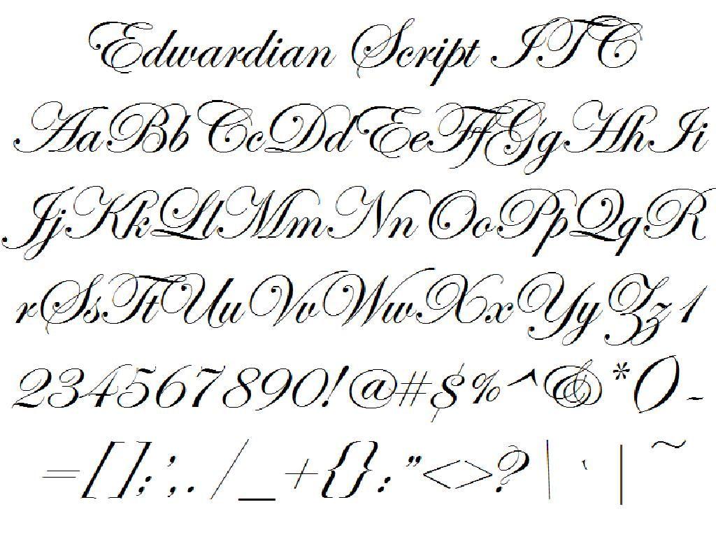 Edwardian script itc fantasie pinterest stenciling