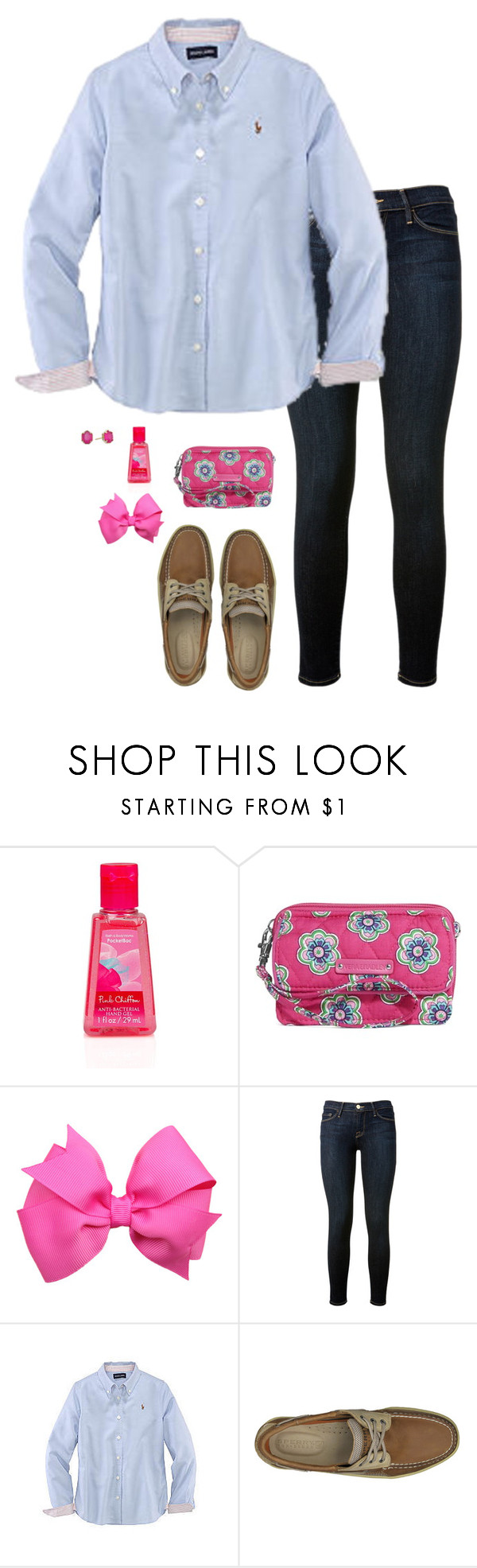 """""""Did your team win today?"""" by sc-prep-girl ❤ liked on Polyvore featuring Vera Bradley, Frame Denim, Ralph Lauren, Sperry Top-Sider and Kendra Scott"""