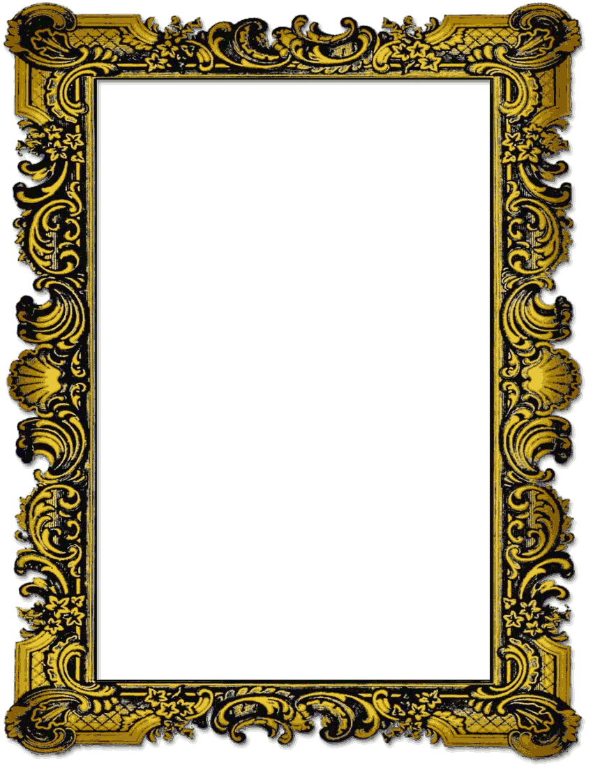 hight resolution of old picture frame page