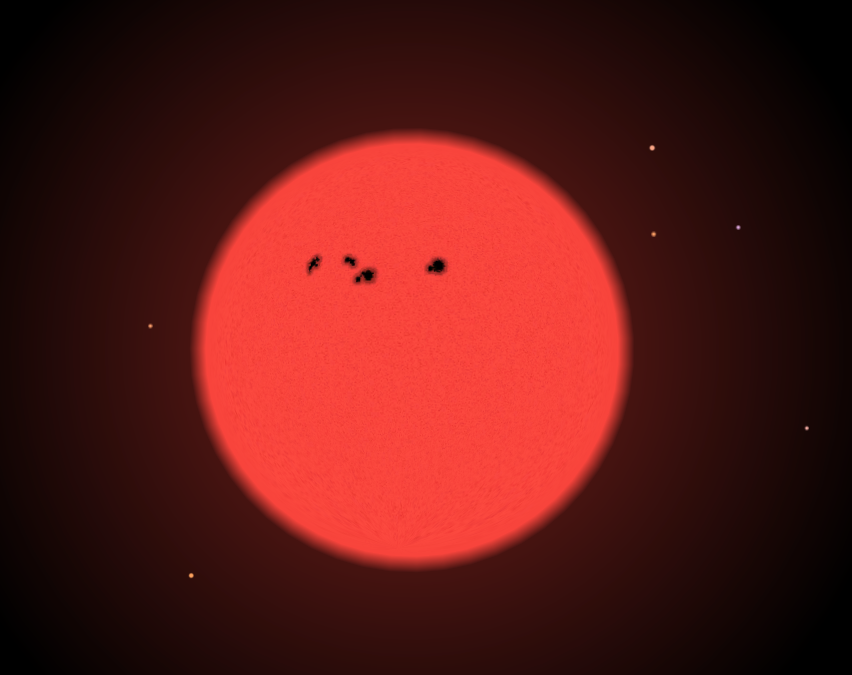 The Trappist 1 Star Is An Ultra Cool Red Dwarf Of Spectral Class M8 It Is Approximately 8 Of The Mass Of Our Sun And 11 Of Red Dwarf Starry Night Astronomy