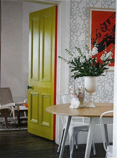 Secret Color Painting Just The Edge Of A Door With Images Diy Interior Doors Painted Interior Doors Doors Interior
