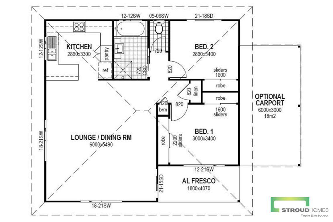 The Harriette Granny Flat Floor Plan Stroud Homes