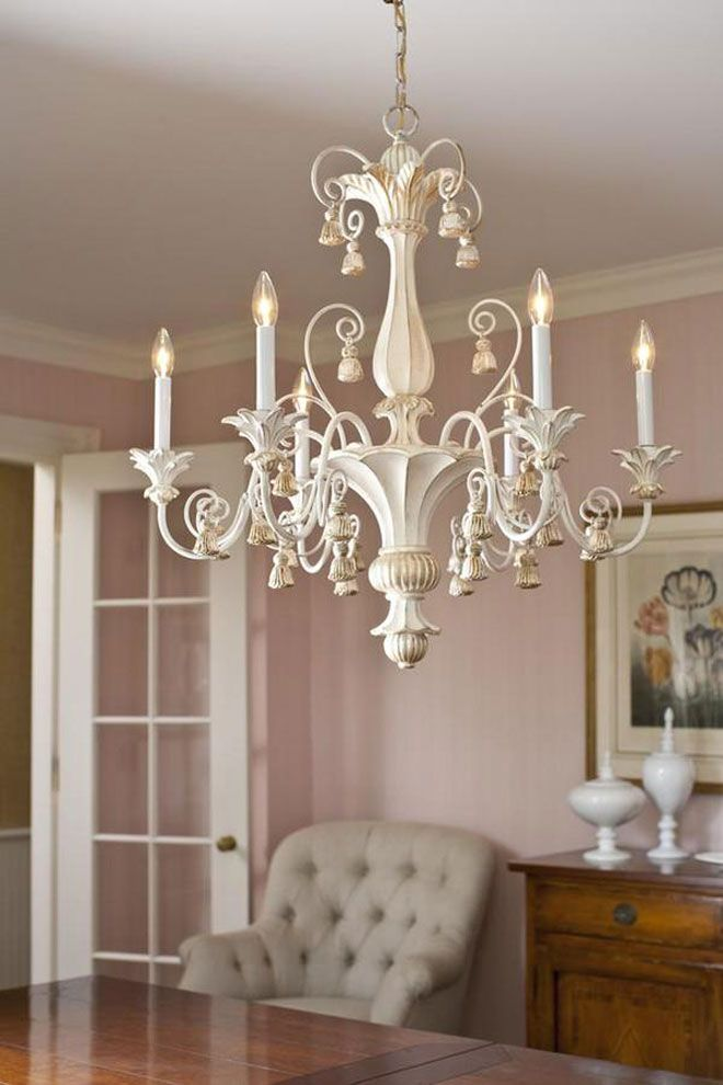 Room Decor With Elegand Hand Carved Wood Chandelier In Antique White Finish Chandeliers Dining Lighting Ideas