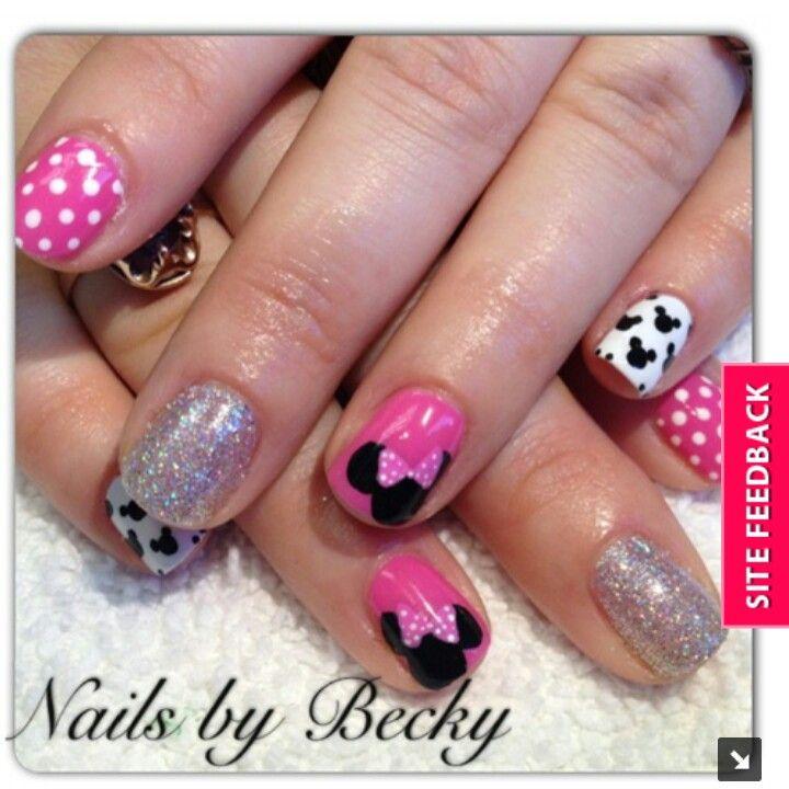 Minnie Mouse   nails   Pinterest   Uñas disney y Disney
