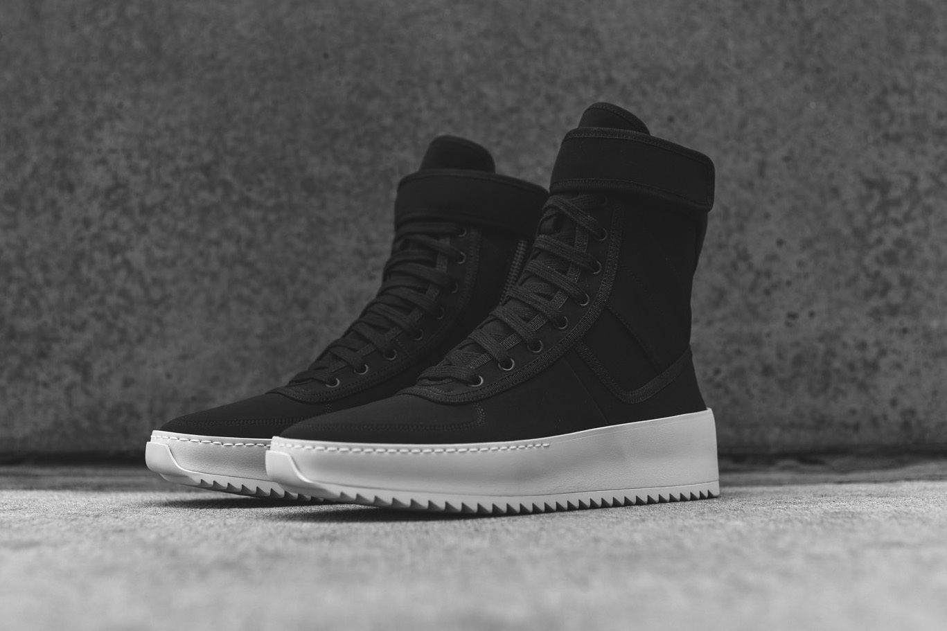 f2ae30246fe7 Fear of God Launches Its Military Sneaker in Black Nylon