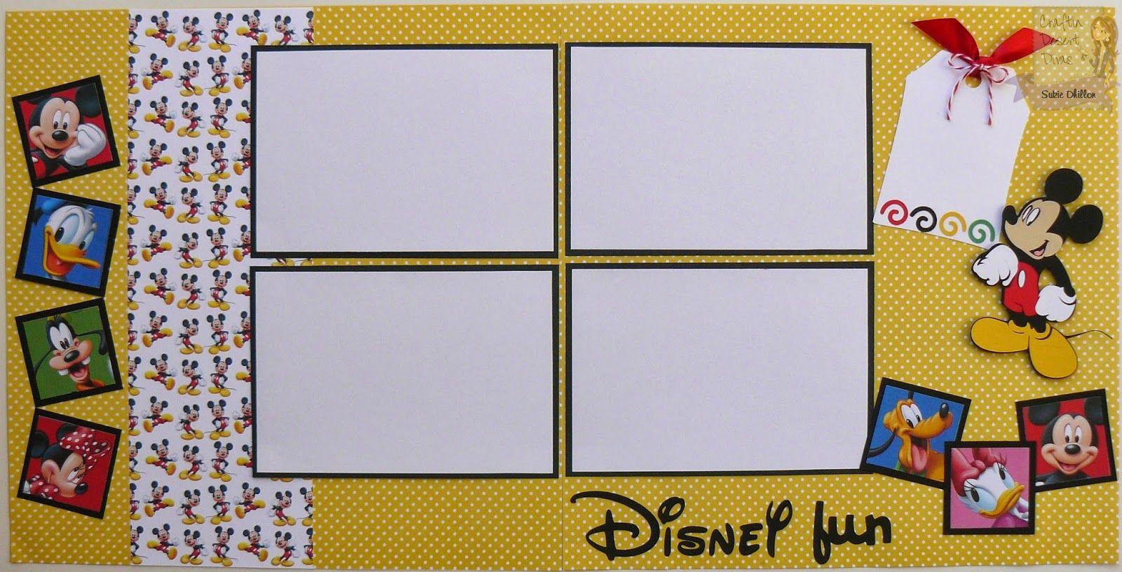 Disney Fun layout using Berry Trendy Twine!